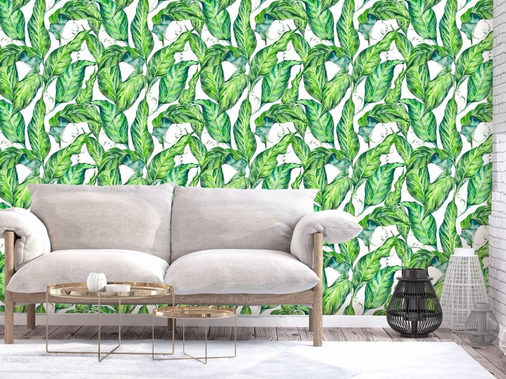 Tapety i fototapety - wyjątkowe dekoracje ścienne od Bimago - Długie liście