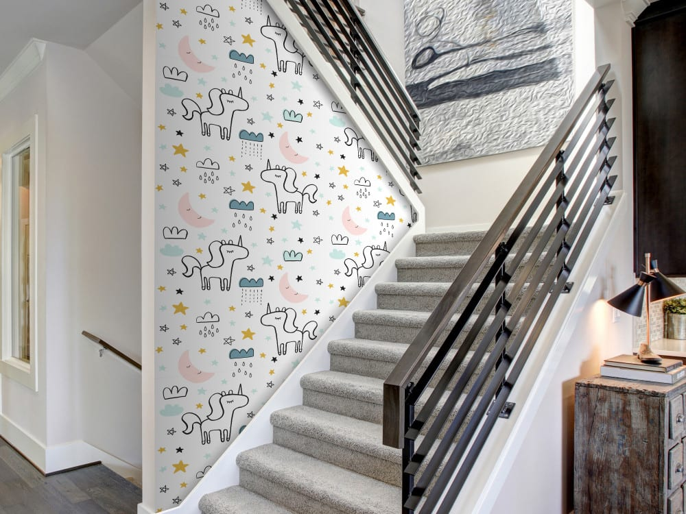 Tapety i fototapety - wyjątkowe dekoracje ścienne od Bimago - Magiczne jednorożce