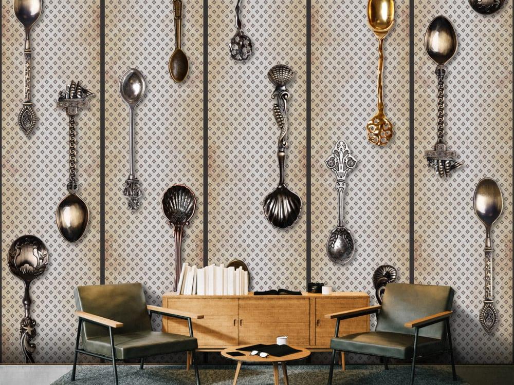Tapety i fototapety - wyjątkowe dekoracje ścienne od Bimago - Łyżki
