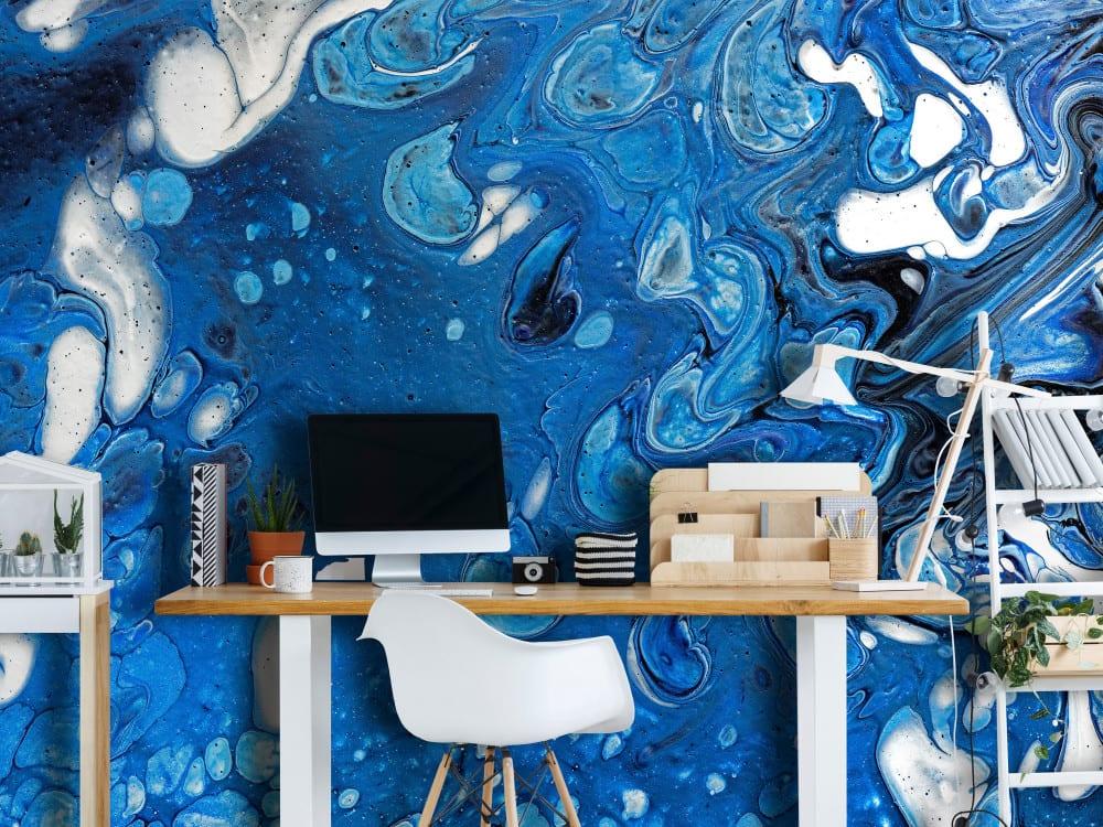 Tapety i fototapety - wyjątkowe dekoracje ścienne od Bimago - Potok błękitu