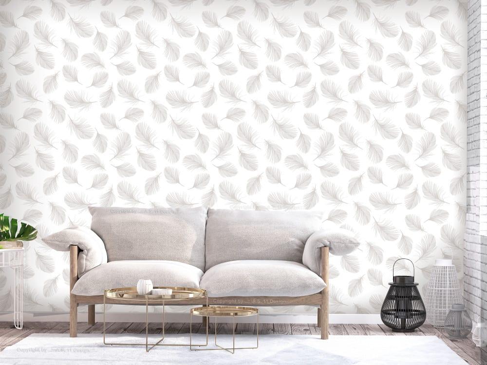 Tapety i fototapety - wyjątkowe dekoracje ścienne od Bimago - Ptasie piórka