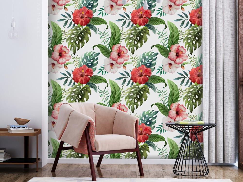Tapety i fototapety - wyjątkowe dekoracje ścienne od Bimago - Tropikalne kwiaty