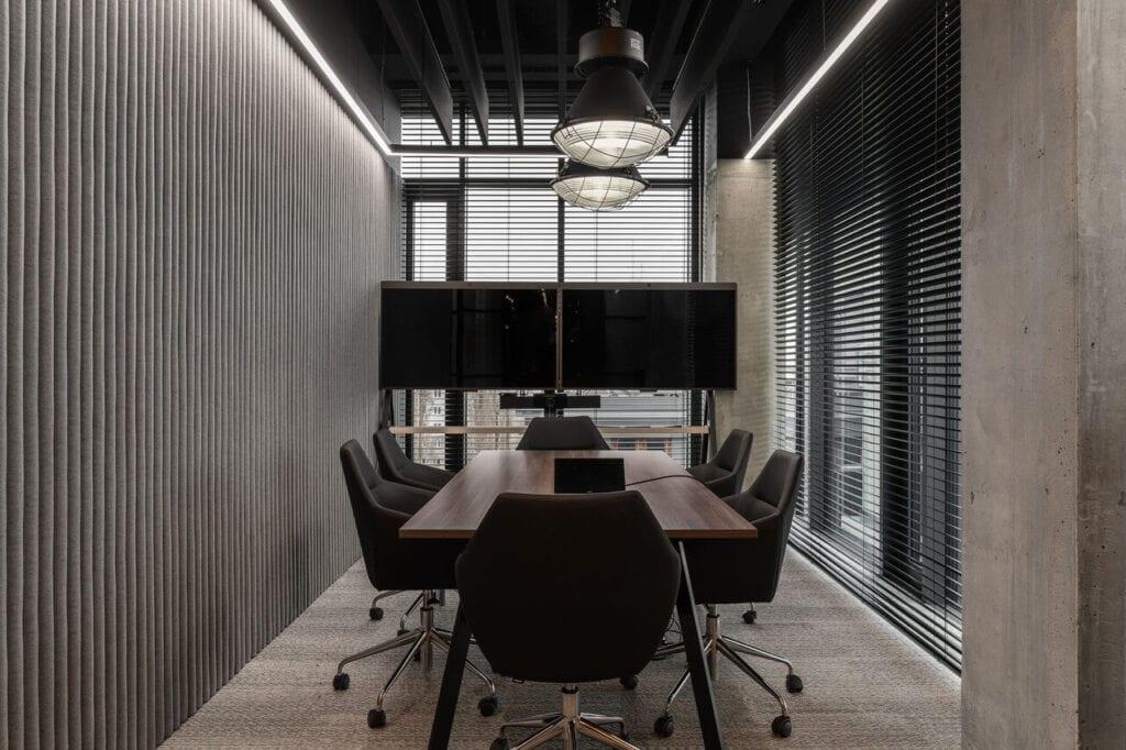 Sala konferencyjna - Wnętrze nowego biura Universal Music Polska w Warszawie projektu The Design Group