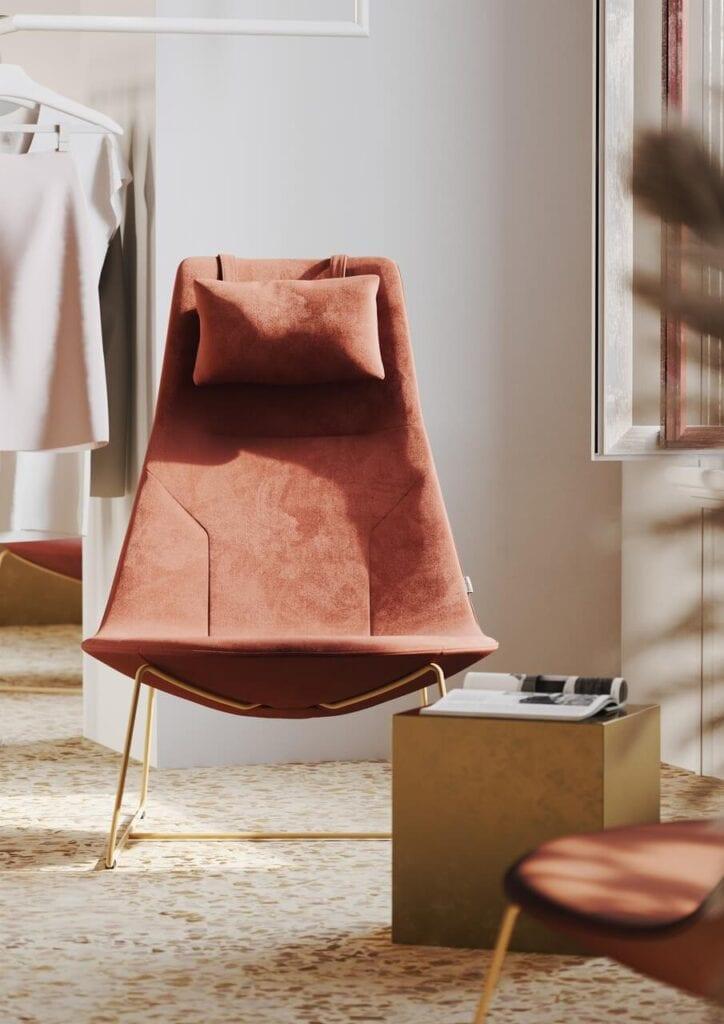 Fotel Chic Lounge - projekt francuskiego designera Christophe'a Pillet