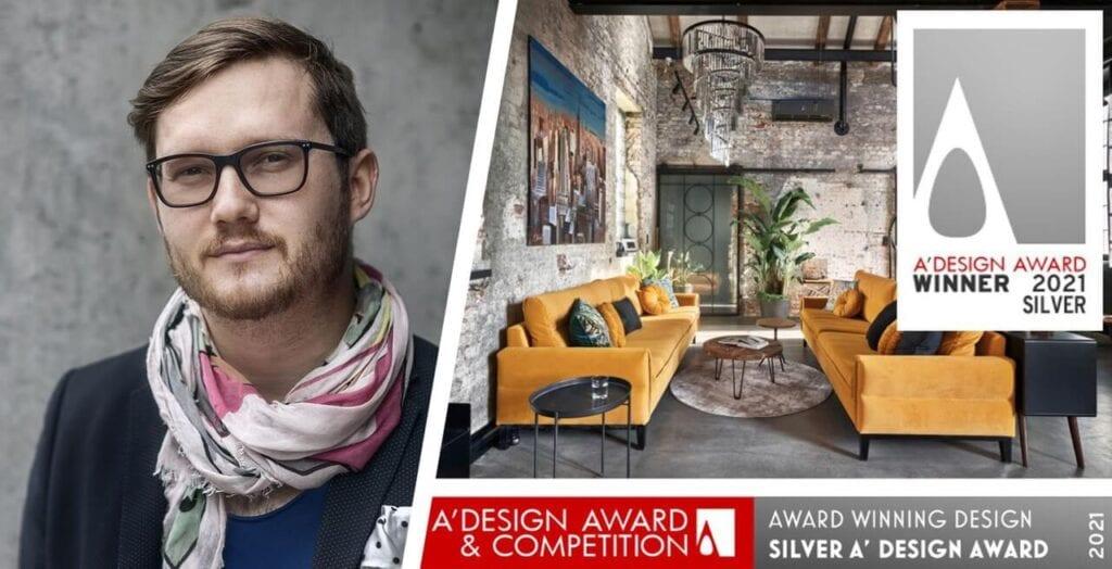 Jan Sikora nagrodzony A'Design Award 2021 za projekt rewitalizacji starej kuźni w Lesznie