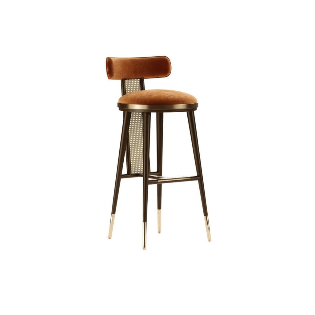Mezzo Collection - meble inspirowane stylem mid-century - krzesło barowe BLAKEY