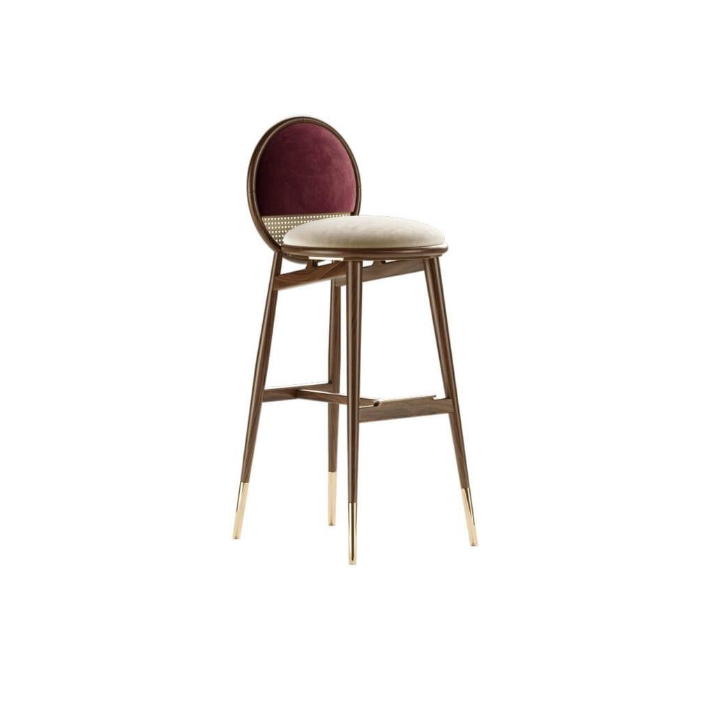 Mezzo Collection - meble inspirowane stylem mid-century - krzesło barowe DEAN