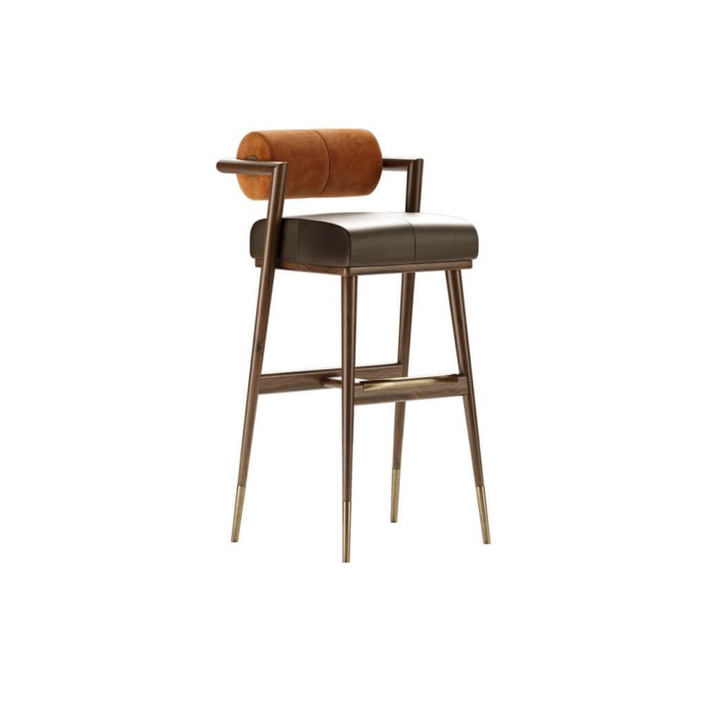 Mezzo Collection - meble inspirowane stylem mid-century - krzesło barowe WATERS