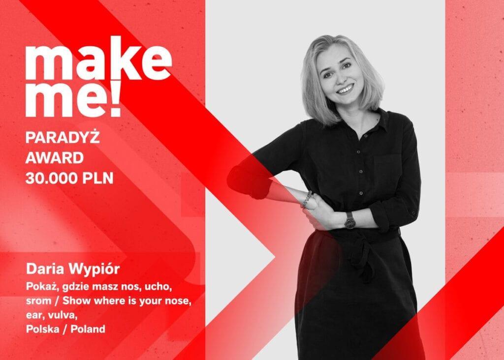 Polskie projektantki nagrodzone w konkursie make me! - Łódź Design Festival 2021 - Daria Wypiór - Pokaż, gdzie masz nos, ucho, srom