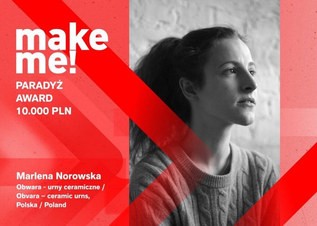 Polskie projektantki nagrodzone w konkursie make me! - Łódź Design Festival 2021 - Marlena Norowska - Obwara - urny ceramiczne
