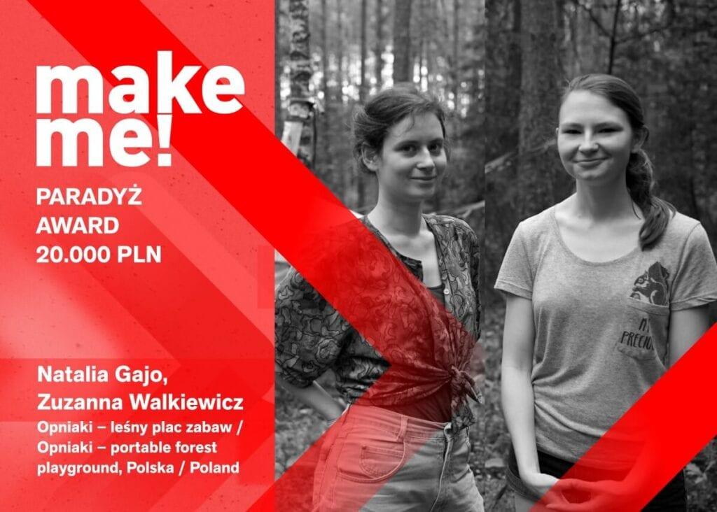 Polskie projektantki nagrodzone w konkursie make me! - Łódź Design Festival 2021 - Natalia Gajo i Zuzanna Walkiewicz - Opniaki - leśny plac zabaw