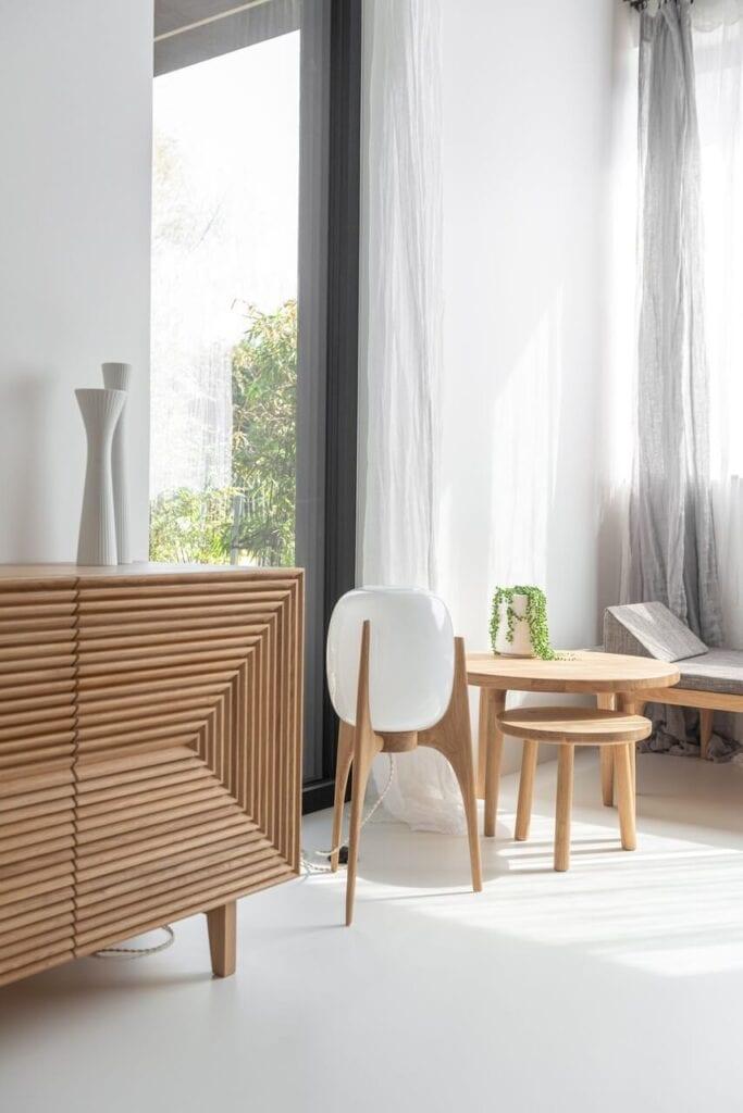 Sypialnia w Szczecinie z meblami od Loft Kolasiński - foto Karolina Bąk