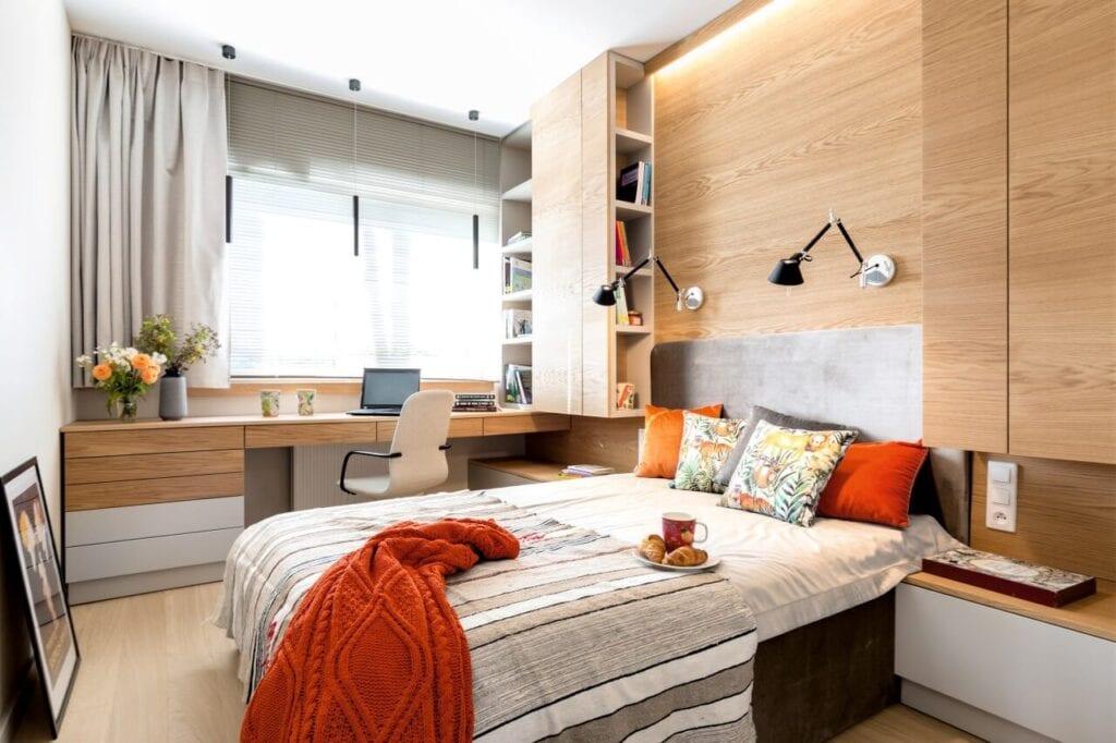 Wnętrza 62-metrowego mieszkania w apartamentowcu w Łodzi - projekt Grupa Siedem - foto Pion Poziom Marta Behling
