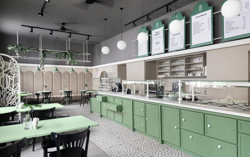 Bar Starówka w Opolu - jedzenie jak u mamy, aranżacja jak z katalogu - projekt FABRYK-ART - foto Mikołaj Dąbrowski