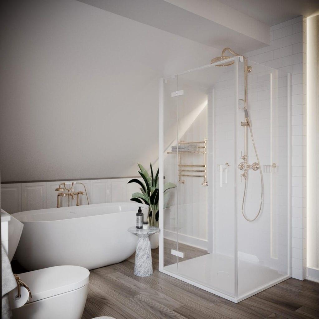Łazienka, w której chcesz się zrelaksować - projekt _slab_
