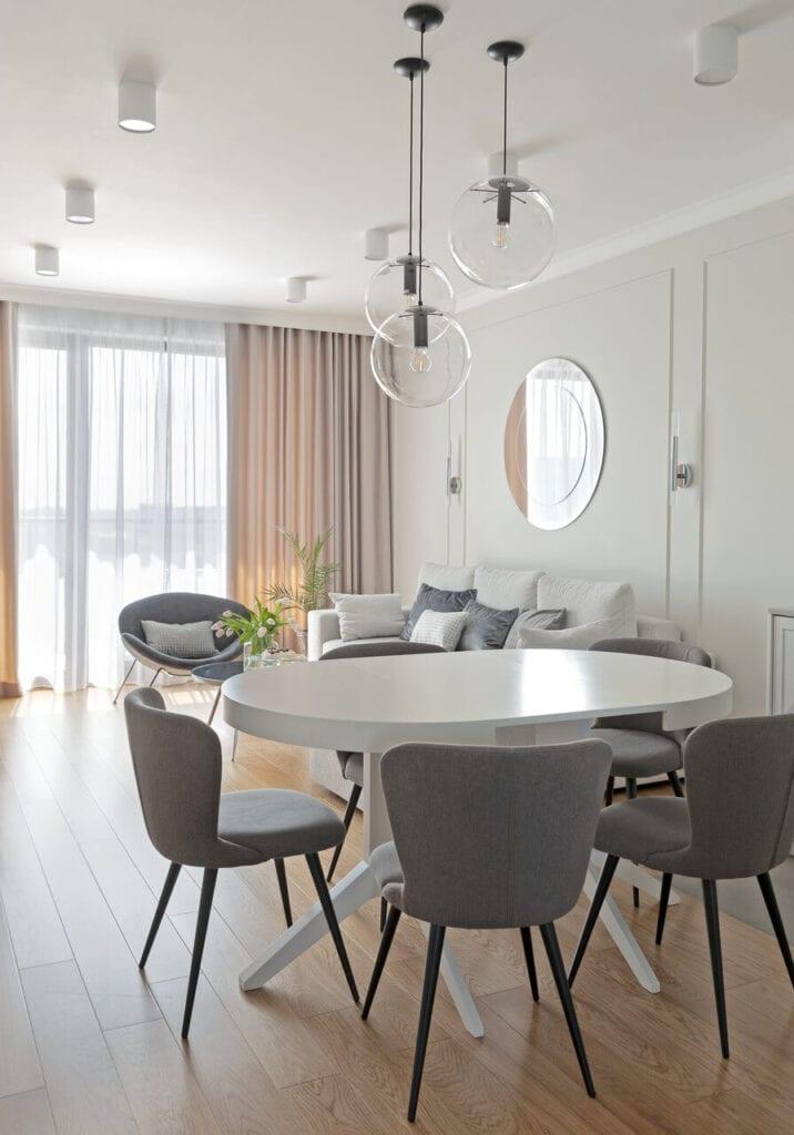 Mieszkanie w warszawskim Wilanowie - mariaż wygody i elegancji - projekt Miśkiewicz Design - foto Anna Powałowska