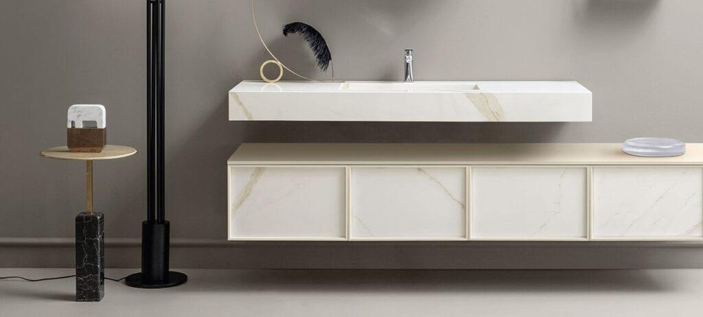 Olśniewająca łazienka bez skazy - porady od marki Laminam
