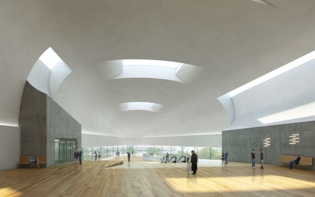 Sala koncertowa w Ostrawie, projekt w trakcie realizacji, arch. Steven Holl, realizacja: 2023