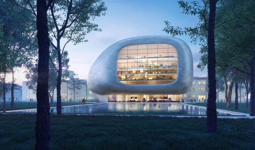 Sala koncertowa w Ostrawie, projekt w trakcie realizacji, arch. Steven Holl