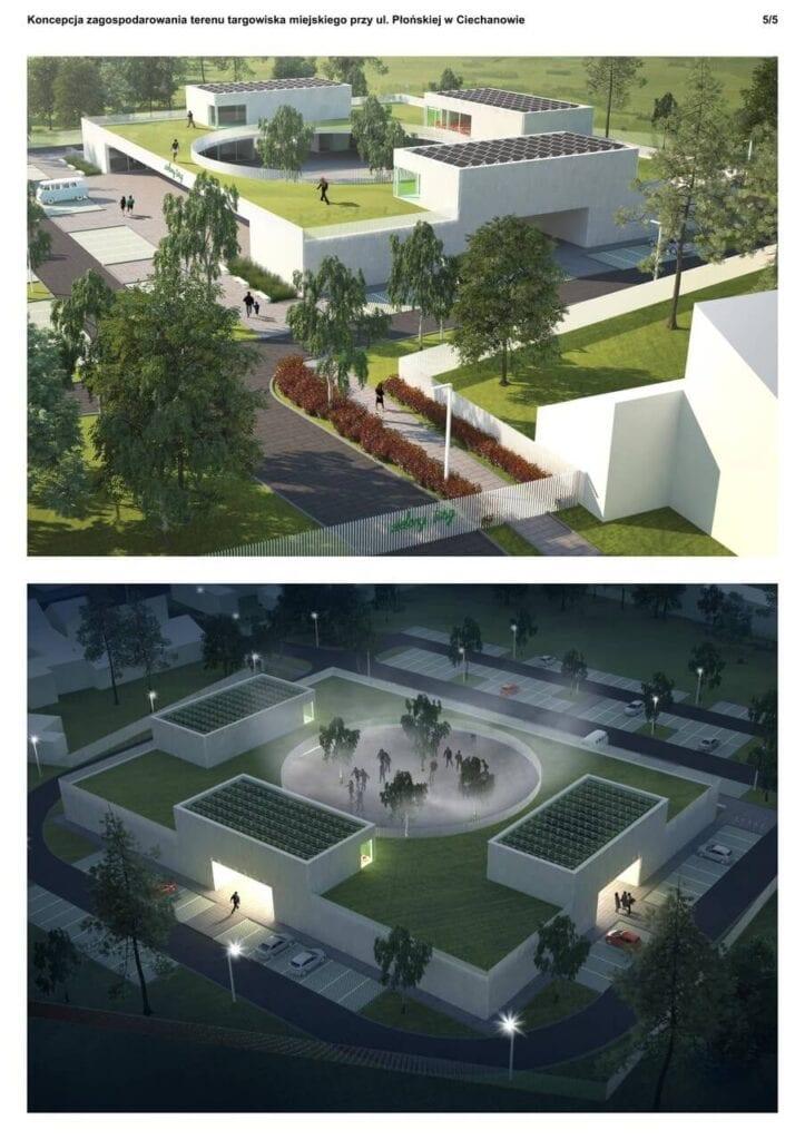 Projekt nowoczesnego targowiska w Ciechanowie - projekt Agata Parzentna i Michał Kucharski