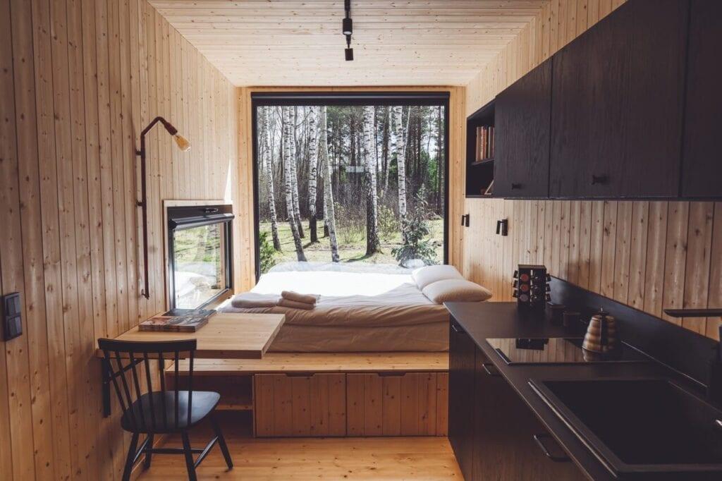 Przytulne wnętrze domku Tiny House