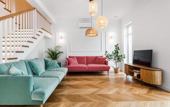 120-metrowa domowa przestrzeń w stylu Art Deco