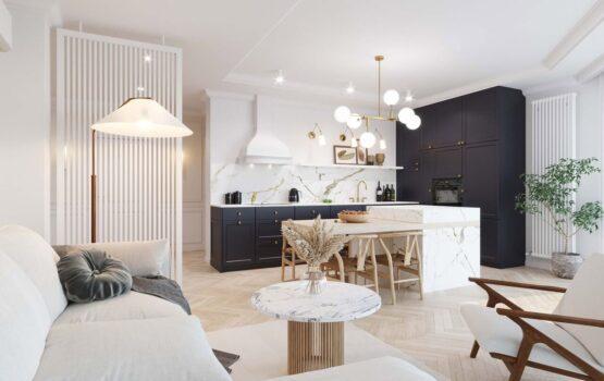 72-metrowy apartament w Krakowie dla rodziny 2+1