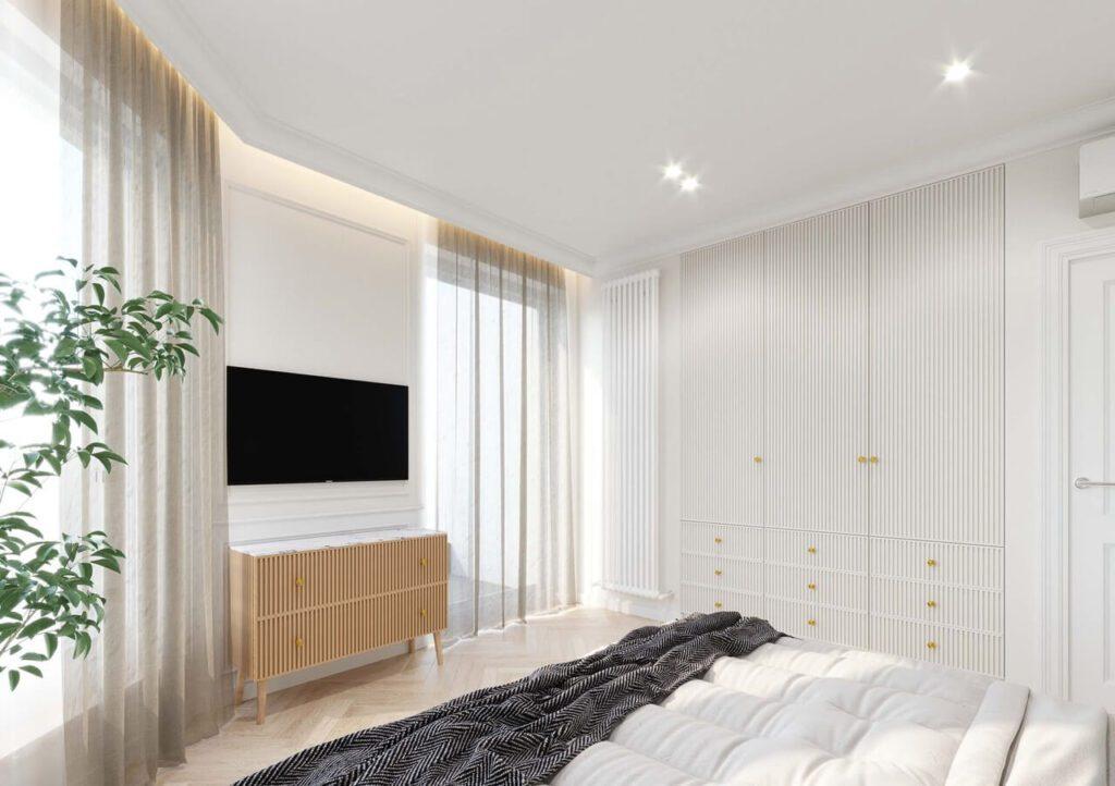 72-metrowy apartament w Krakowie dla rodziny 2+1 - projekt kaim.work