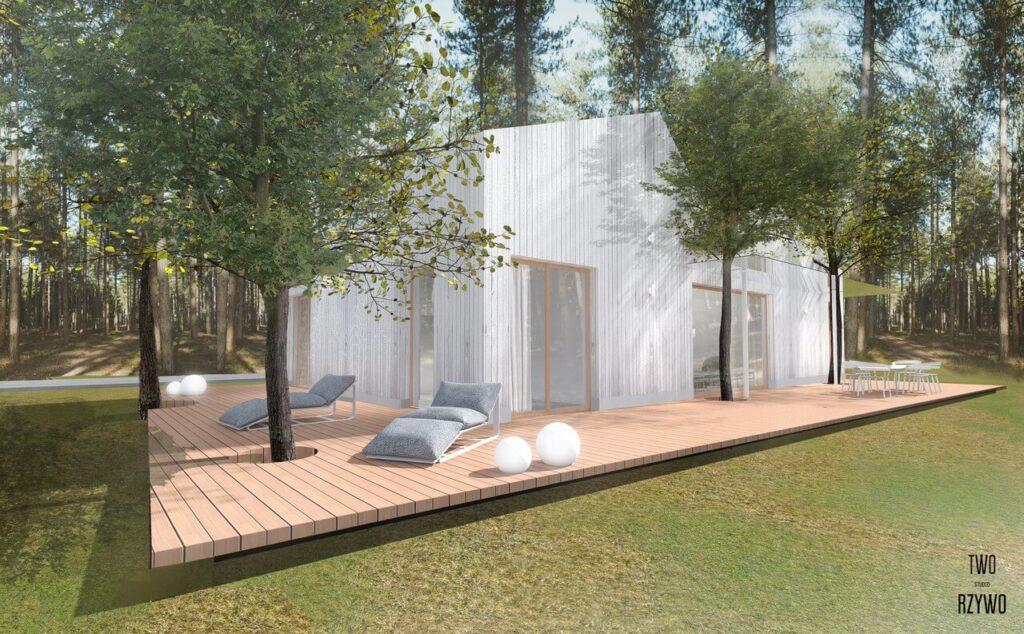 Dom Jasny - projekt dla wielopokoleniowej rodziny - projekt TWORZYWO STUDIO