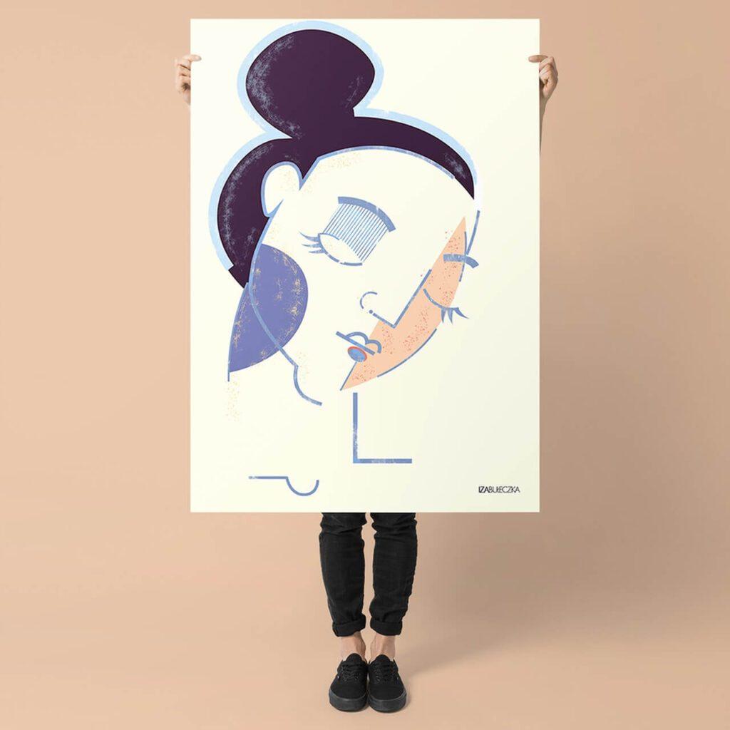 Iza Bułeczka - feminizm w artystycznym wydaniu - plakat portrait of a woman