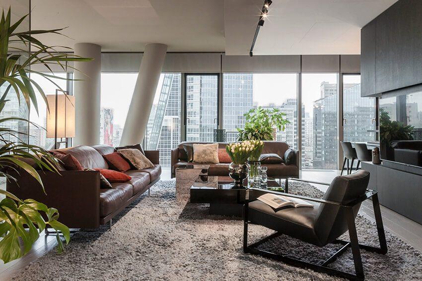 Wnętrza apartamentu w wieżowcu Cosmopolitan projekti pracowni de novo