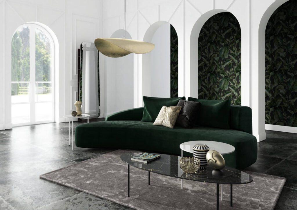 Sofa - królowa salonu. Przegląd modeli marki Absynth - sofa MOON