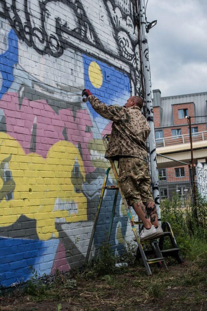 Streetartowy projekt na terenie dawnej Stoczni Gdańsk