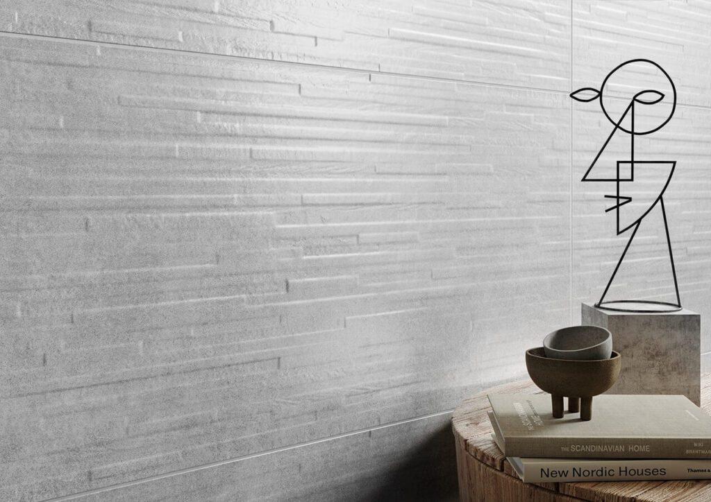 Subtelna odsłona betonu w kolekcjach płytek Opoczno - Kolekcja Vidal grey-white