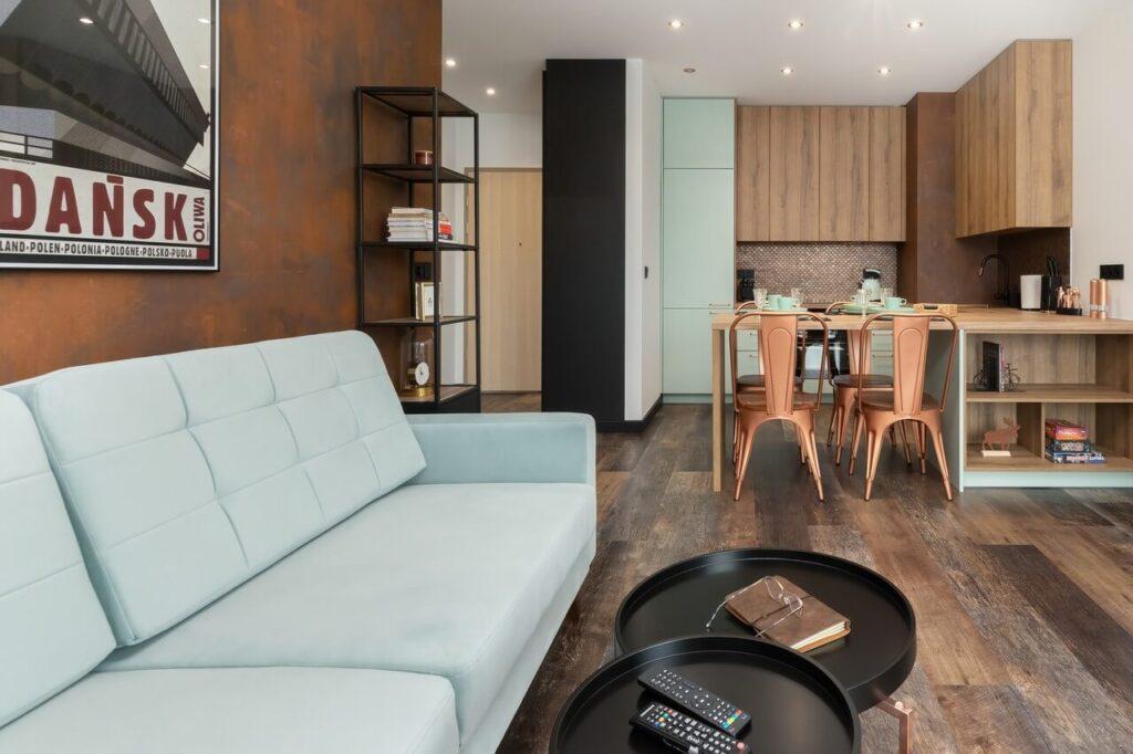 Mieszkanie w Gdańsku w cieniu stoczniowych żurawi - projekt Aneta Subda - foto Renters