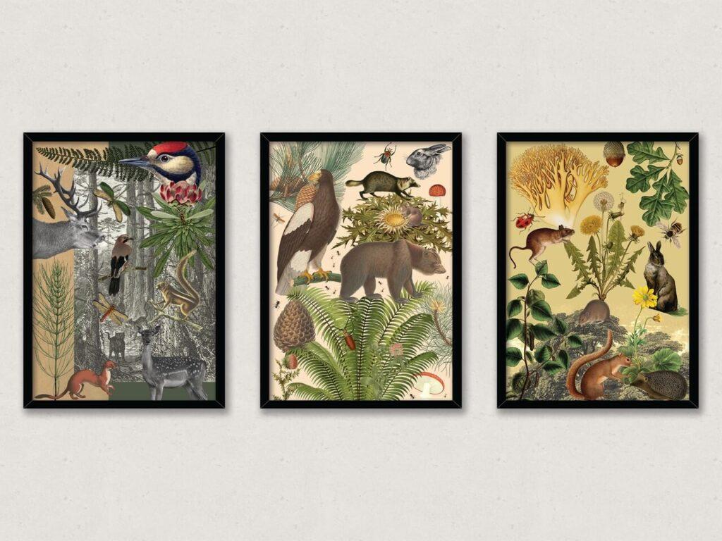 Klucz do emocji - sztuka wizualna od Głowacka Studio - Tryptyk Leśny