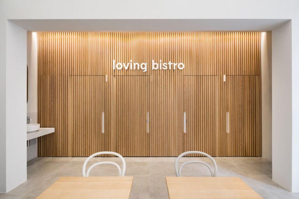Loving Bistro Letná - wegański lokal projektu Esté architekti