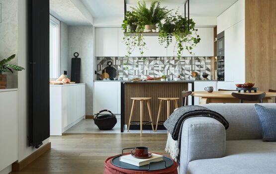 Nowoczesny apartament na łódzkim Manhattanie od Hanny Pietras