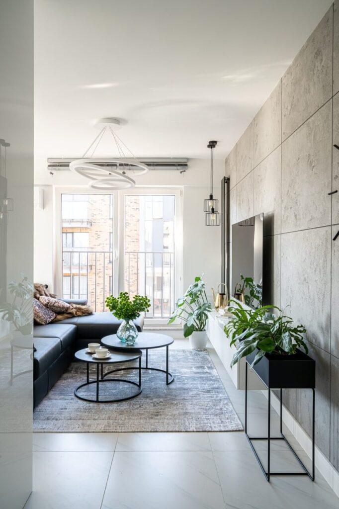 Wnętrze w stylu Black & White