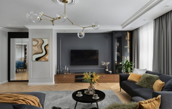 160-metrowy apartament z elementami art déco projektu Nubo Interior
