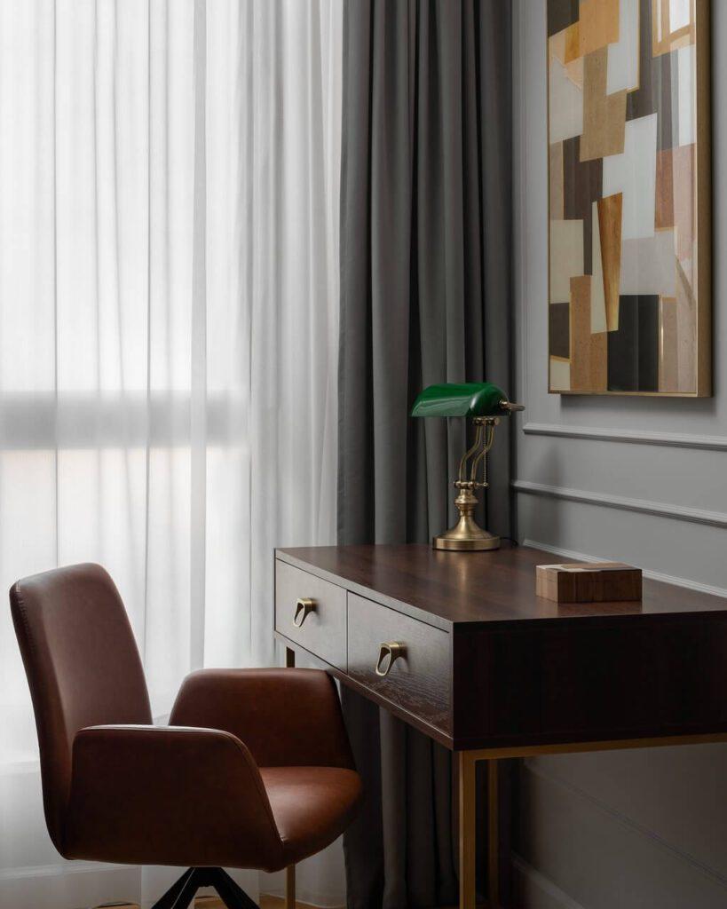 Aranżacja biura - 160-metrowy apartament - projekt Nubo Interior