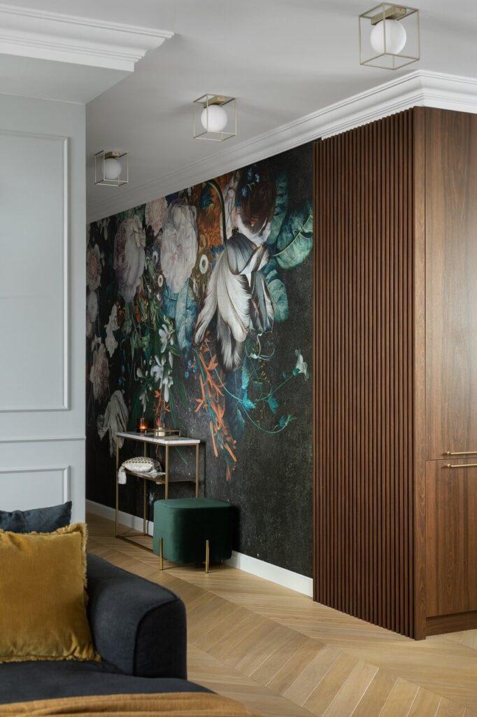 Dekoracja przedpokoju - 160-metrowy apartament - projekt Nubo Interior