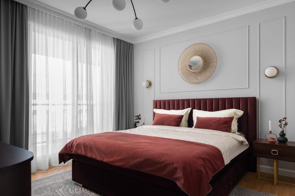 Stylizacja sypialni w projekcie Nubo Interior