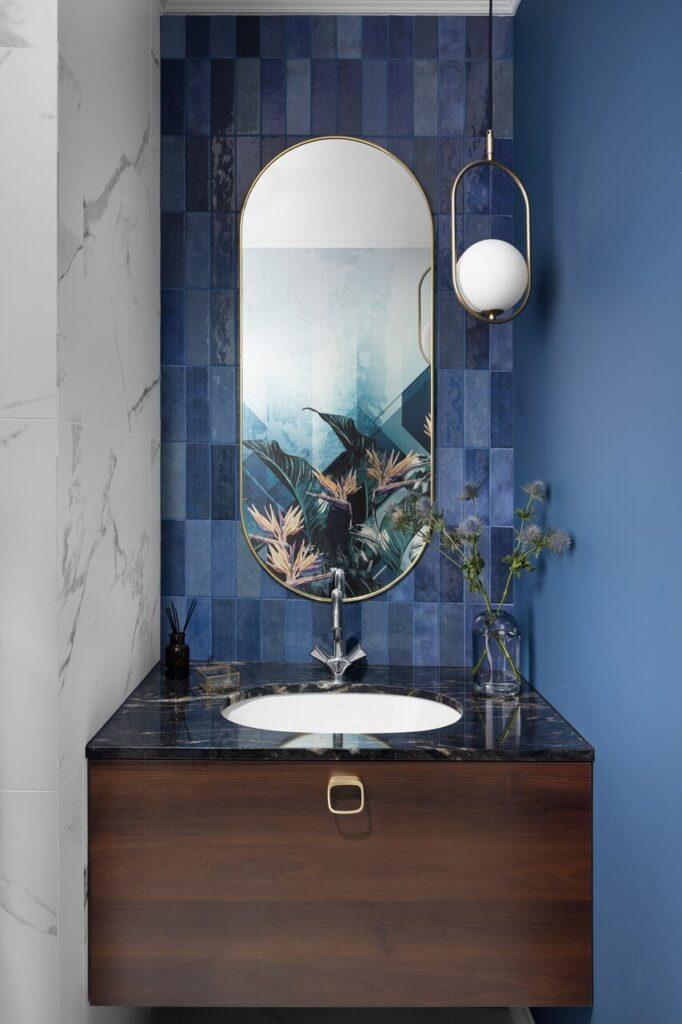Dekoracje łazienkowe w projekcie Nubo Interior