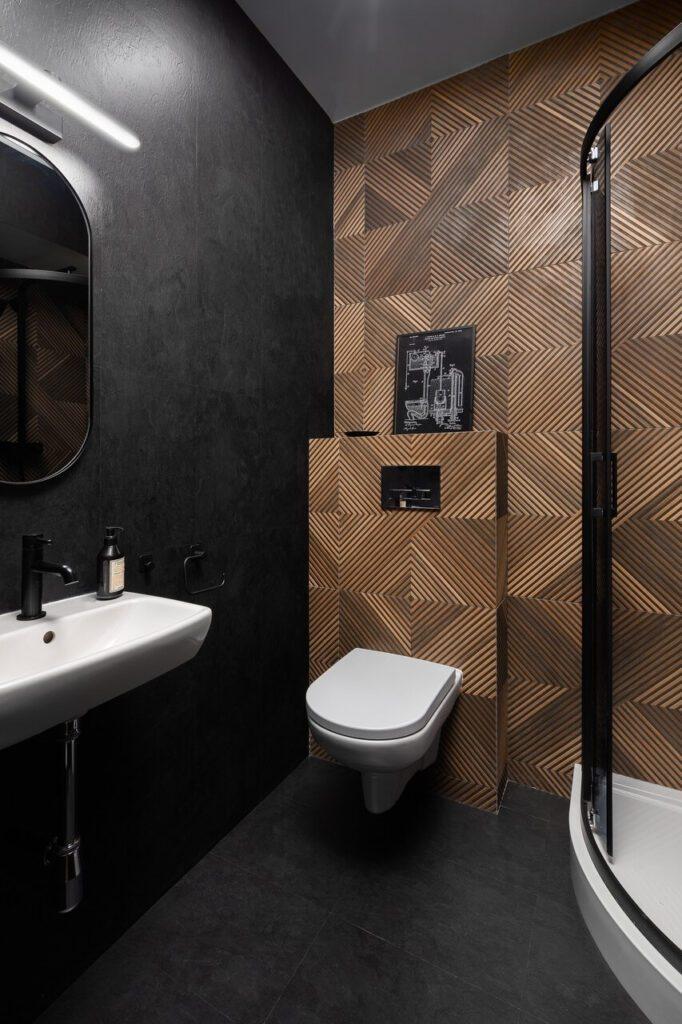 Łazienka w stylu loftowym w projekcie Good Vibes Interiors