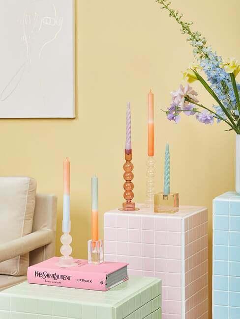 Trend kolorowe świece - Westwing