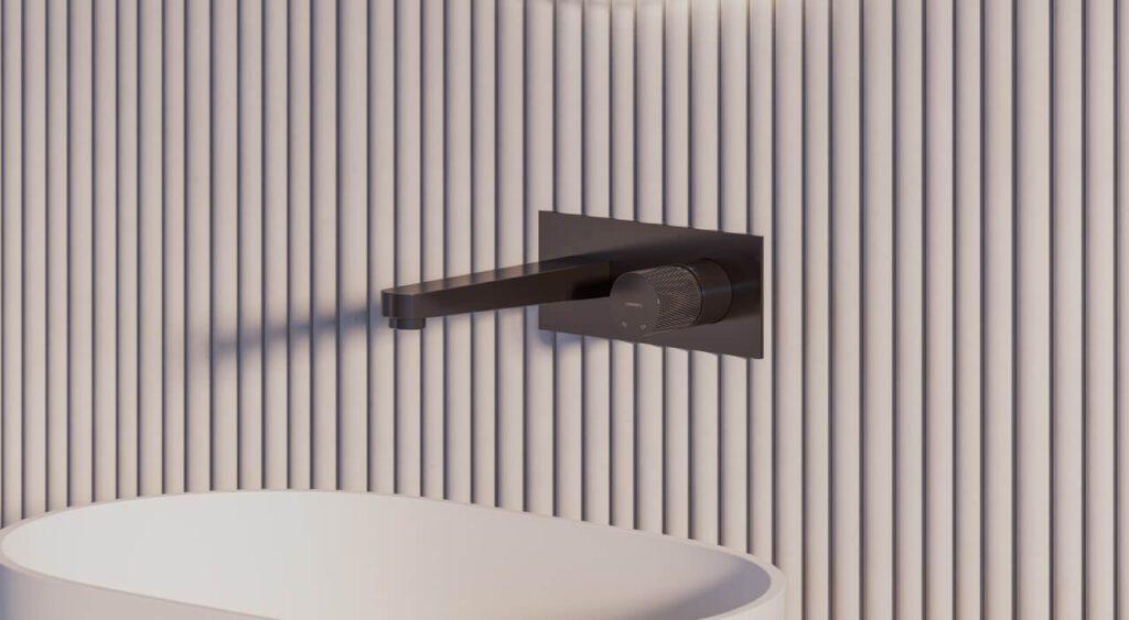 Kolekcja baterii OMNIRES CONTOUR w wykończeniu antracytowym