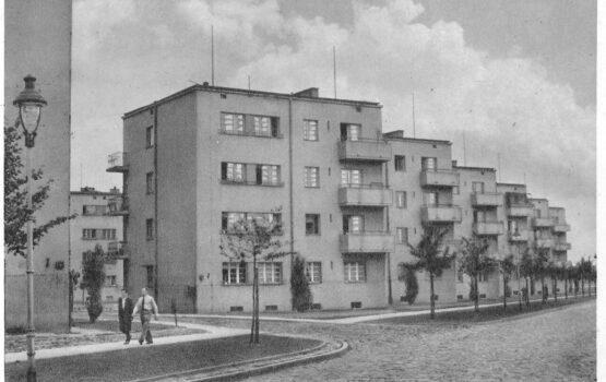 Wystawa opowiadająca o Osiedlu im. Józefa Montwiłła-Mireckiego w Łodzi