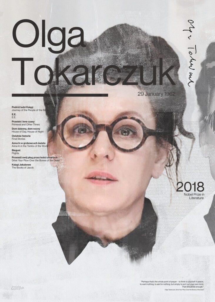 Paula Matczak - Plakat Olga Tokarczuk