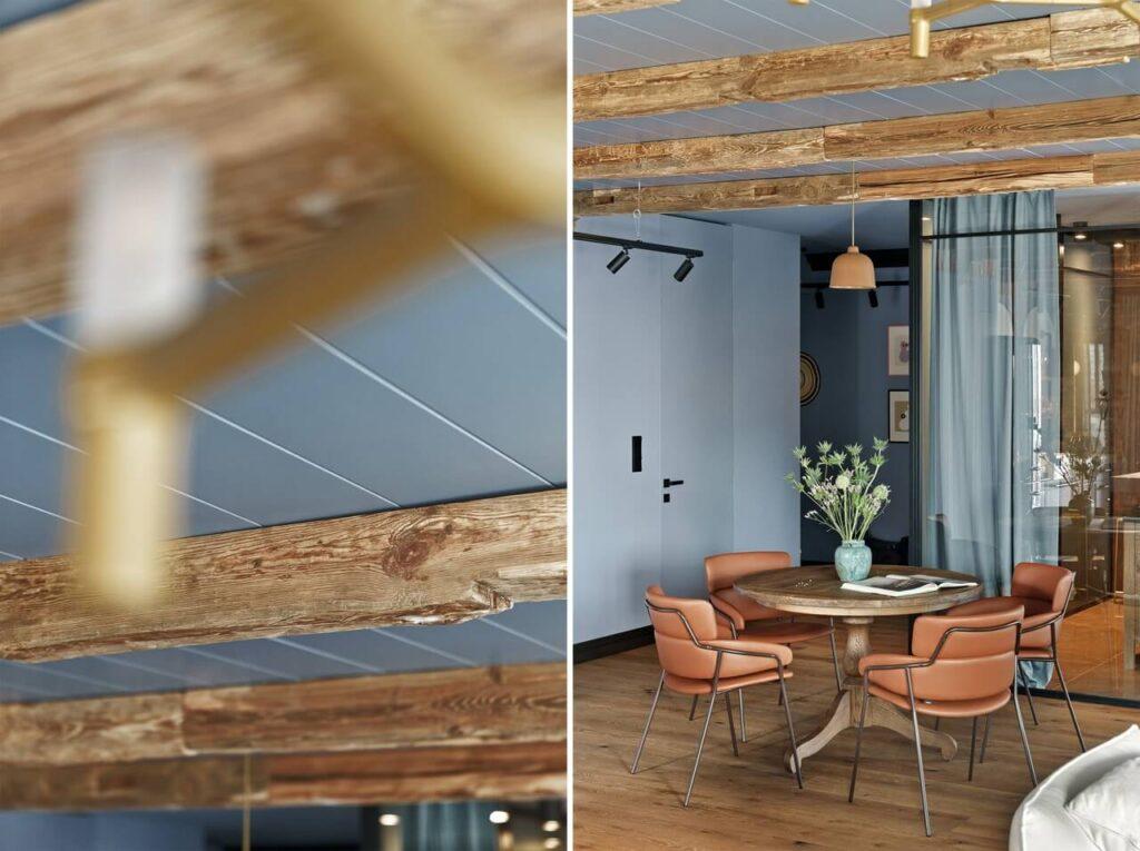 Sikora Wnętrza Architektura i stylowy apartament nad Motławą - foto Tom Kurek